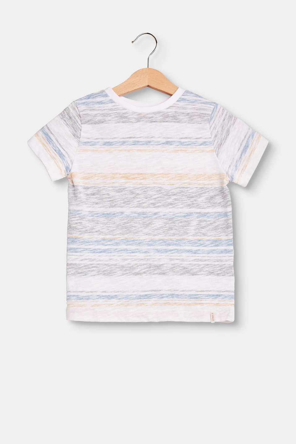 Esprit - T-shirt with inside-out stripes, 100% cotton