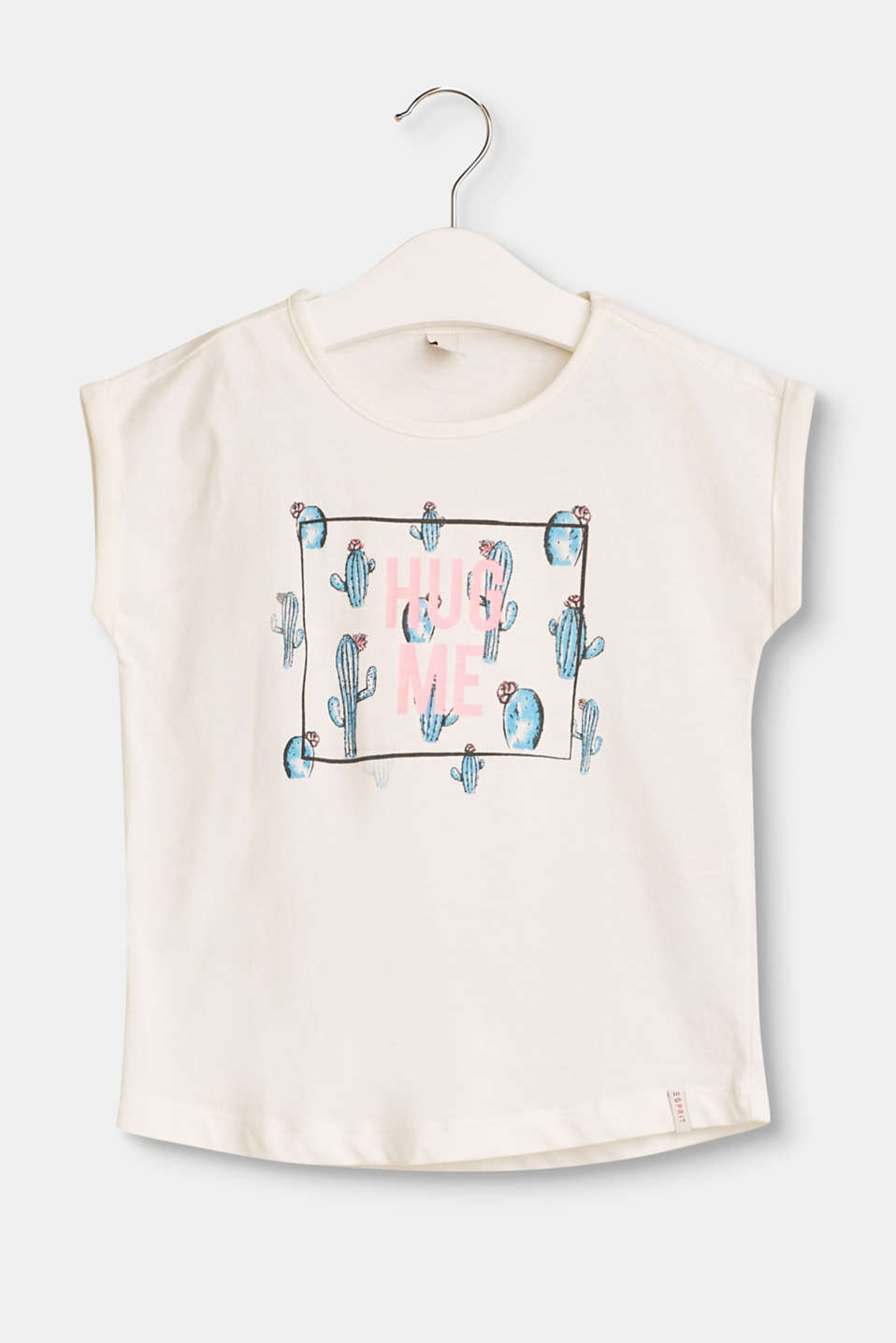 Esprit - Boxy cotton top with a front print