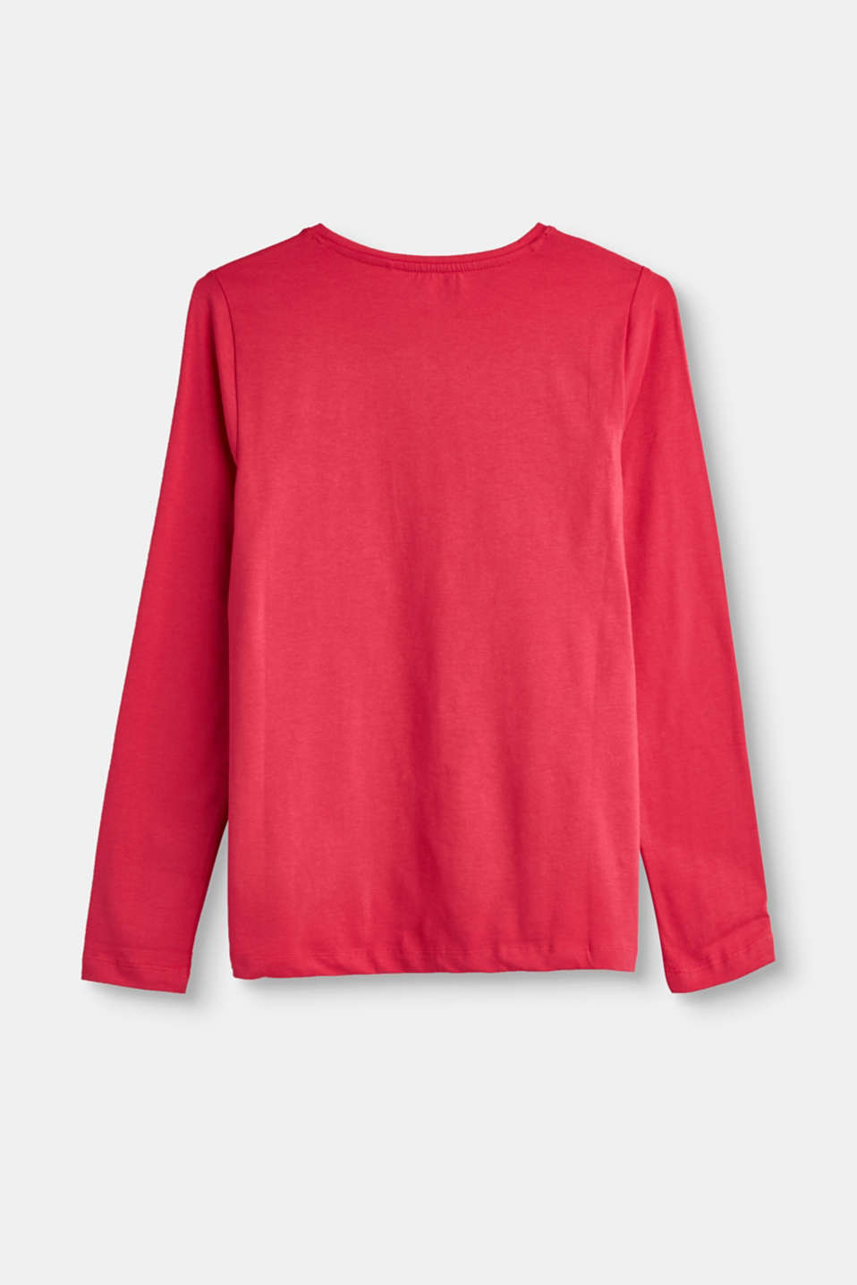 Basic stretch cotton long sleeve top