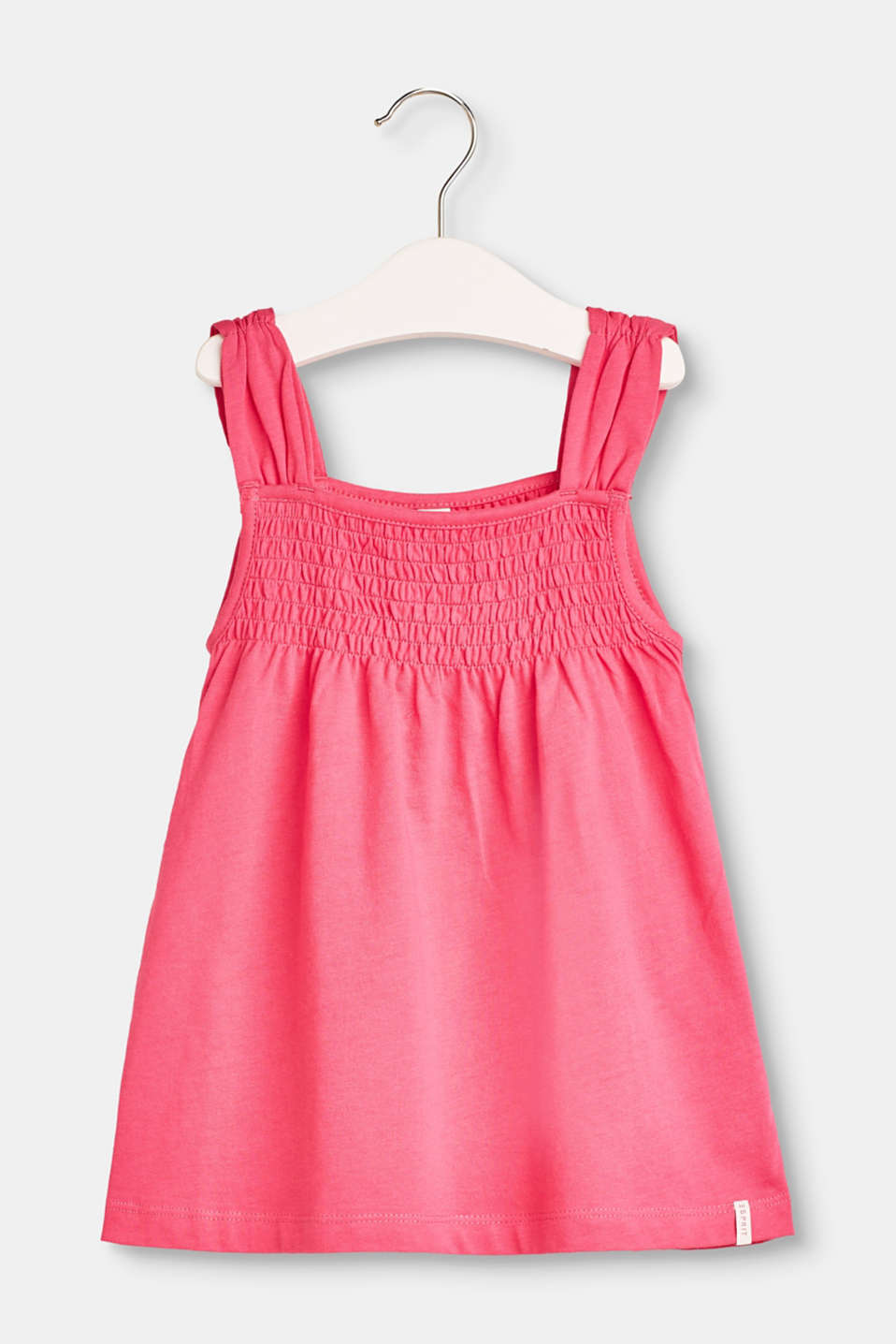 Esprit - Smocked A-line lace top in 100% cotton