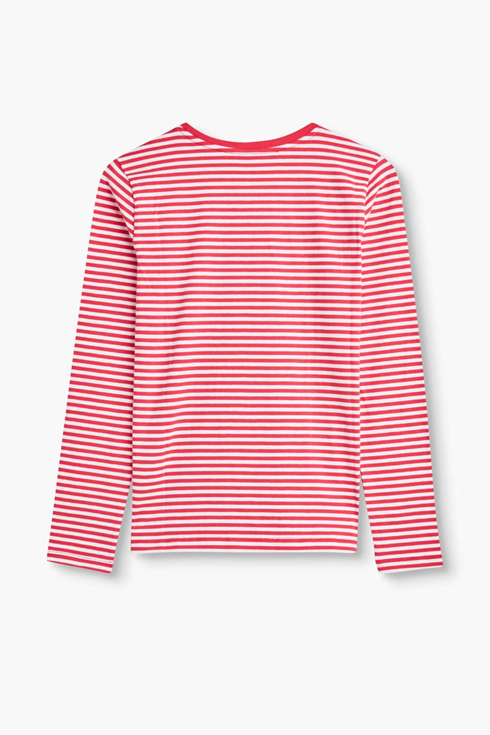 Striped long sleeve jersey top
