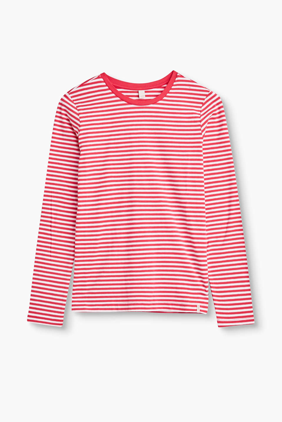 Pink is for girls! The bright striped look makes this basic long sleeve top a head-turner.