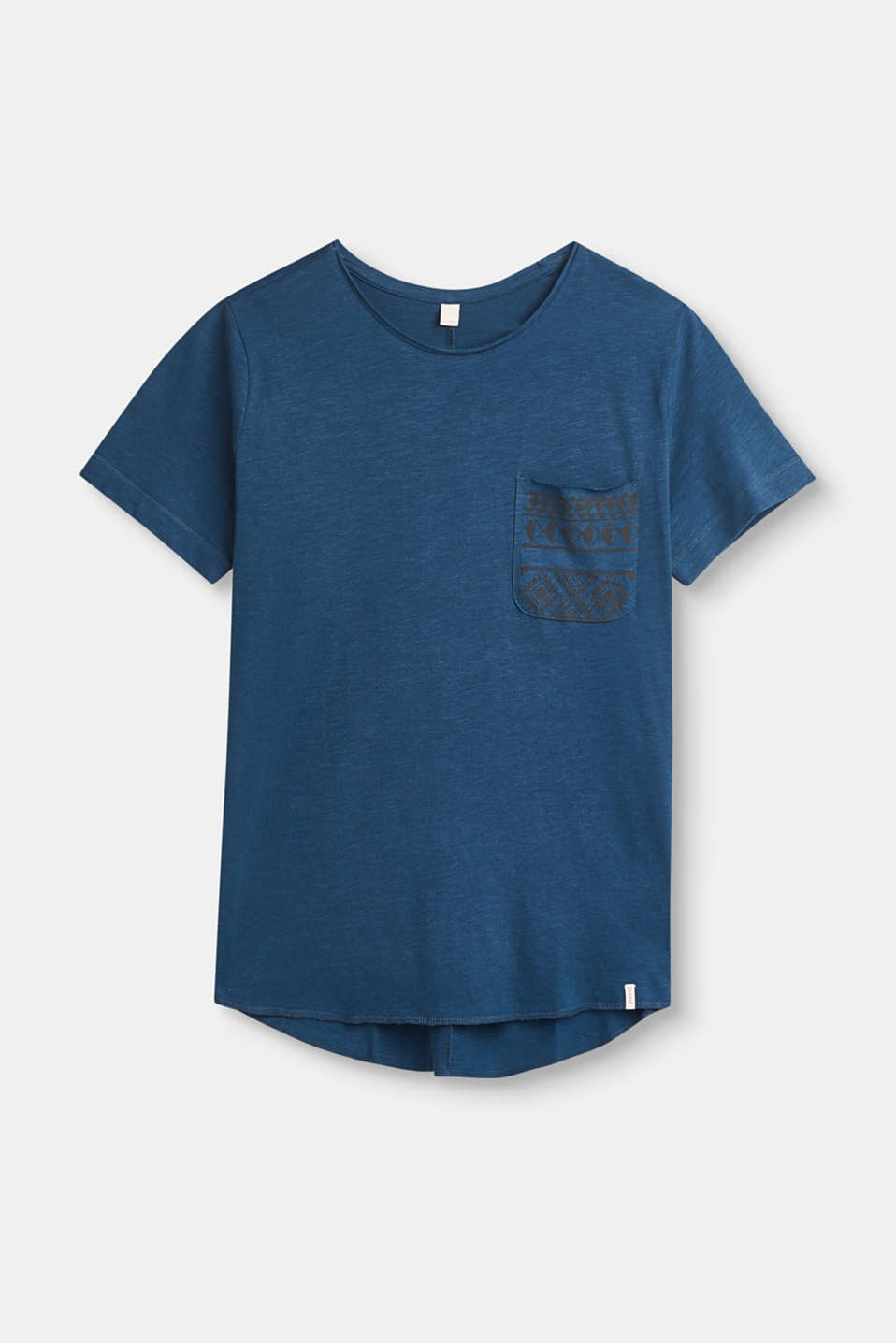 Esprit - Slub T-shirt with unfinished edges, 100% cotton