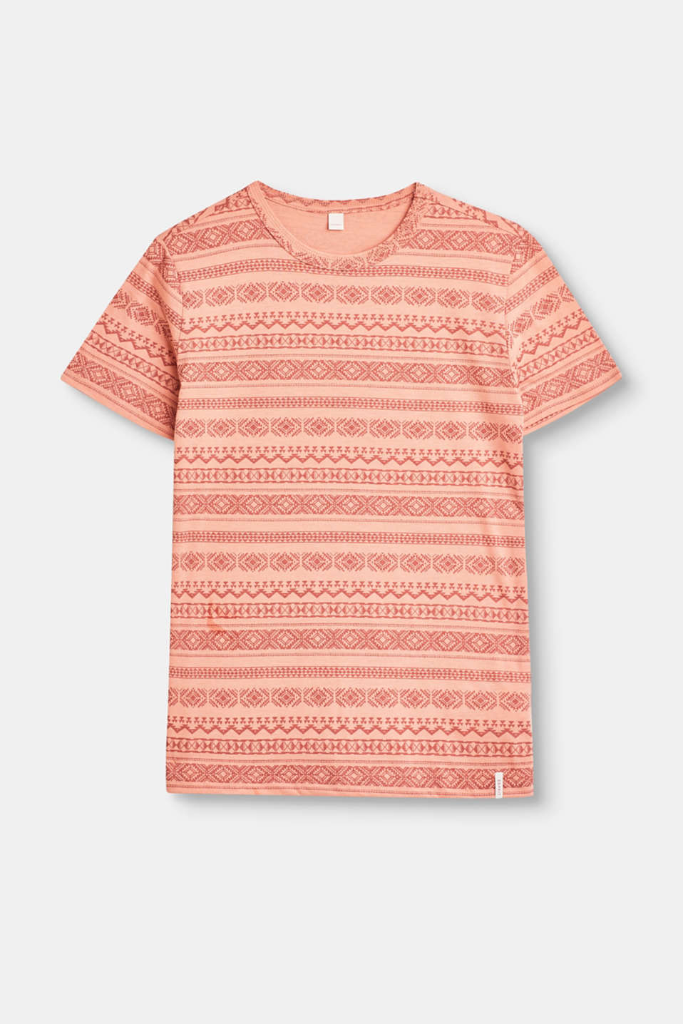Esprit - Soft T-shirt made of blended cotton with a tribal print
