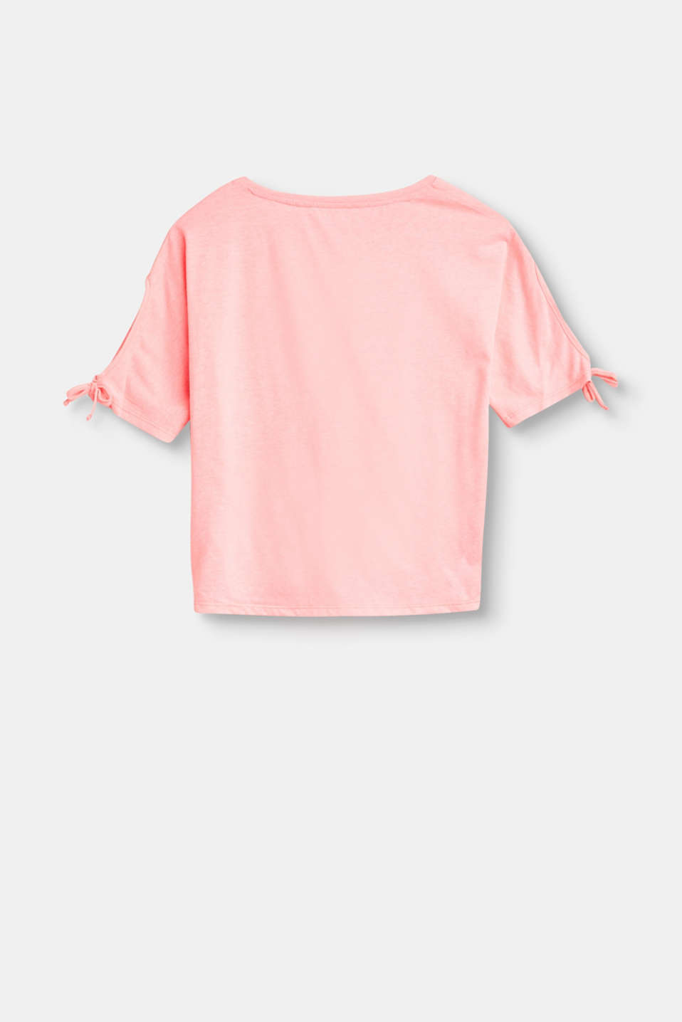 Cropped, bow detail jersey T-shirt