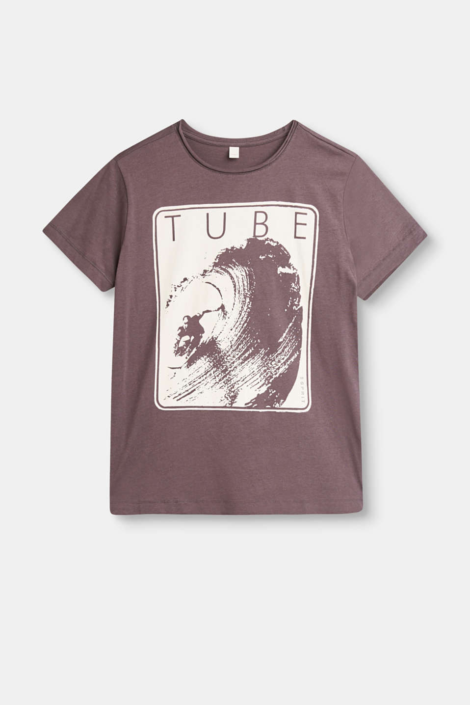 The perfect wave! The large wave print on the front of this melange T-shirt is instantly eye-catching.