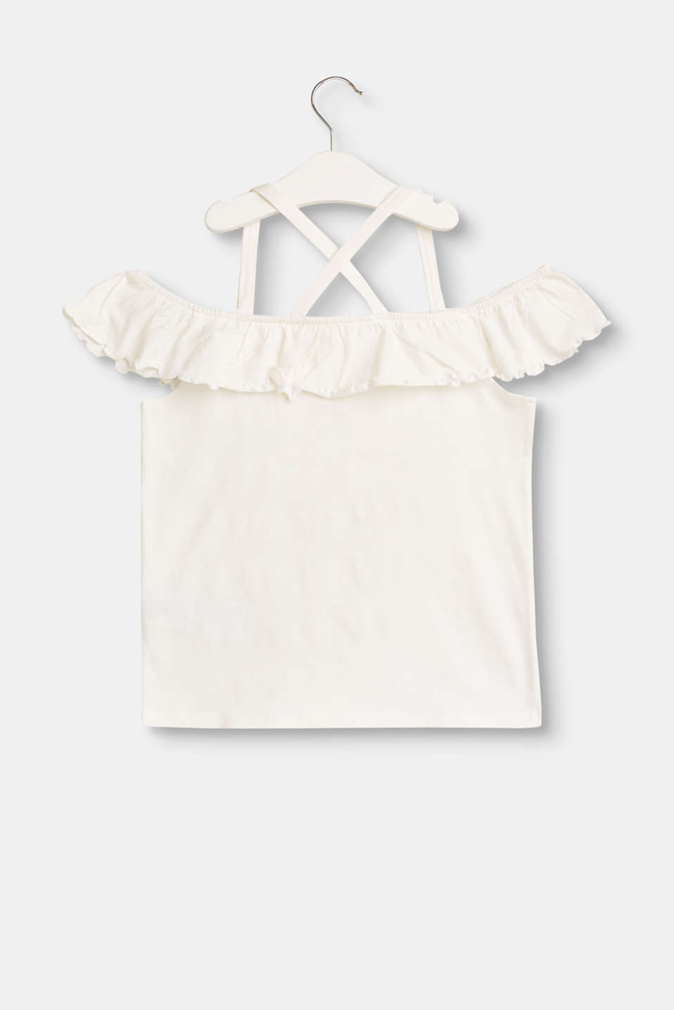 Stretch top with frill embellishments