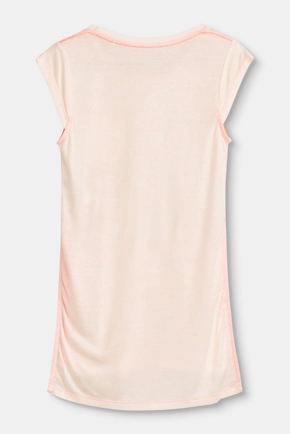 Long, slit T-shirt with neon details