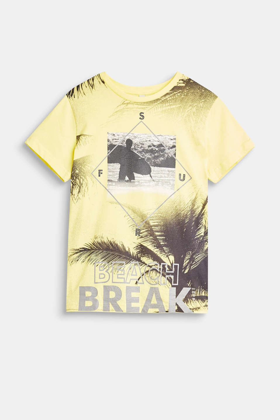 Esprit - T-shirt with a cracked beach print, 100% cotton