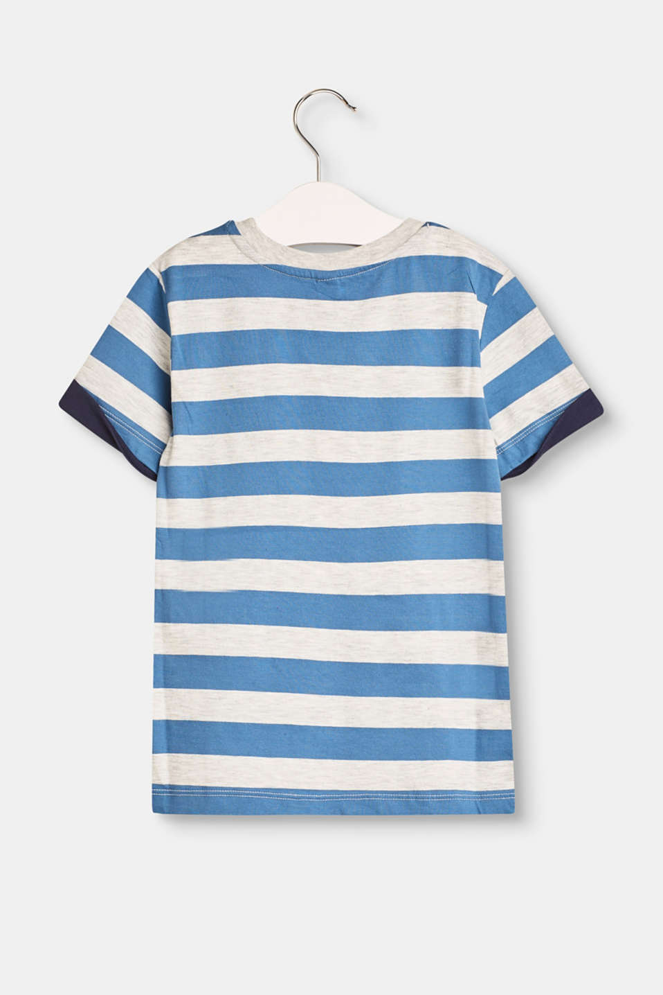 Striped T-shirt with a breast pocket