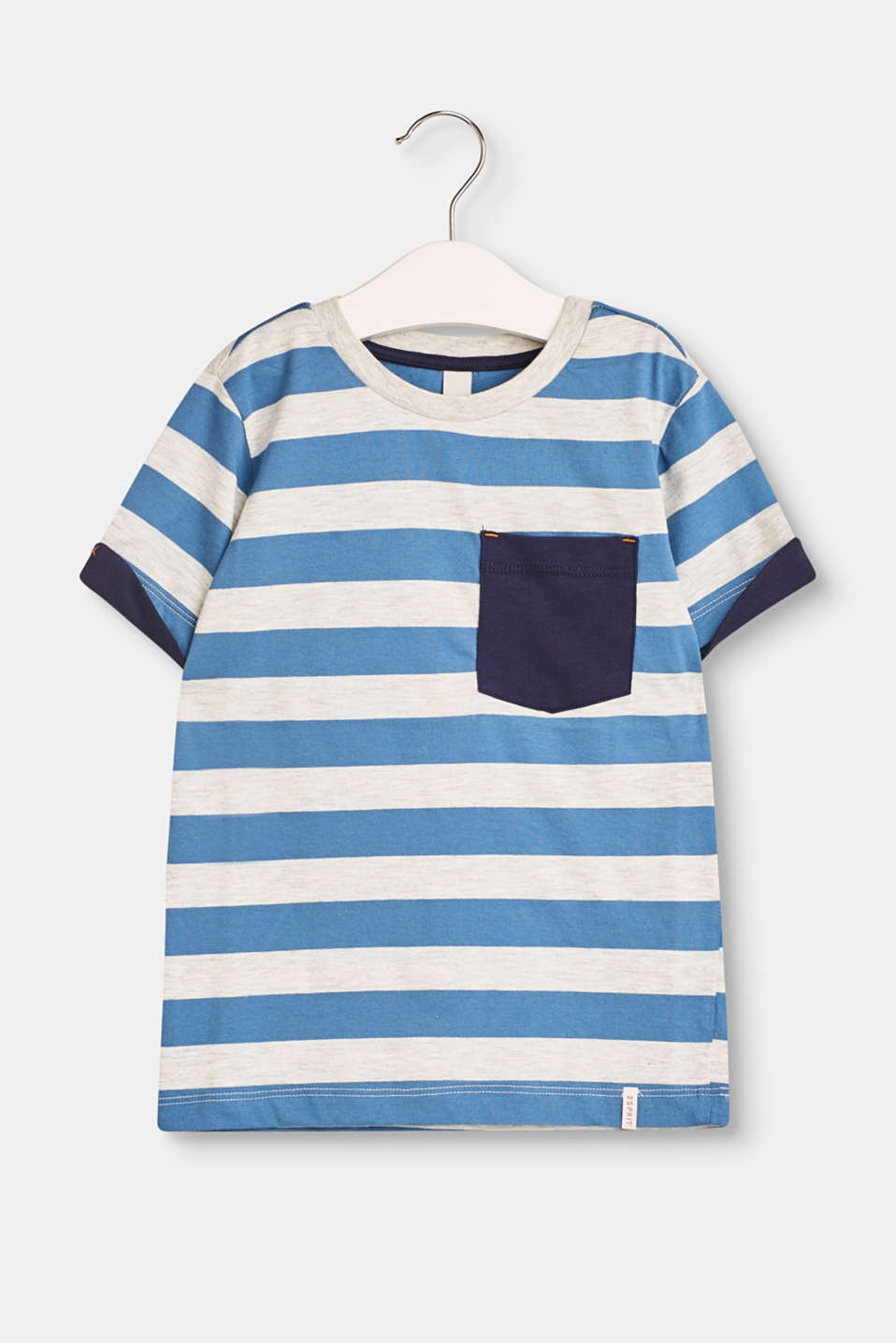 Esprit - Striped T-shirt with a breast pocket