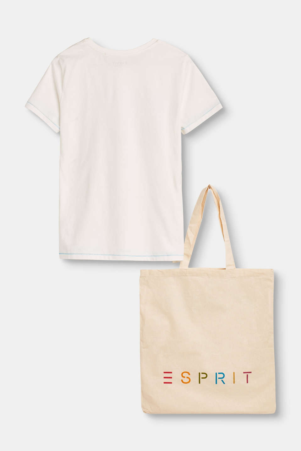Set: organic cotton T-shirt and bag