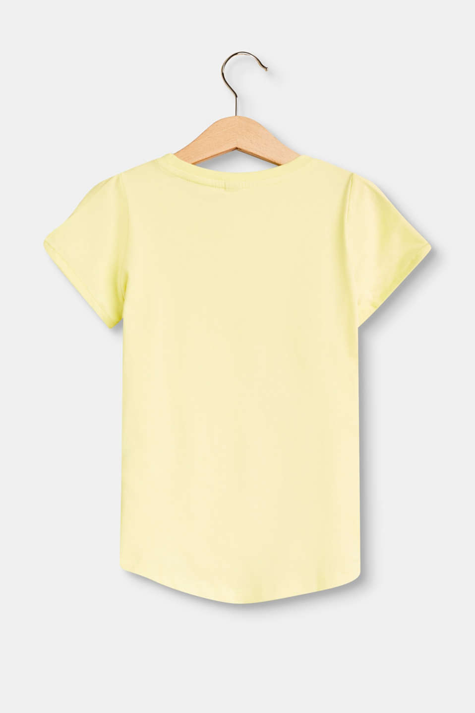 Stretch T-shirt with a print and cut-outs
