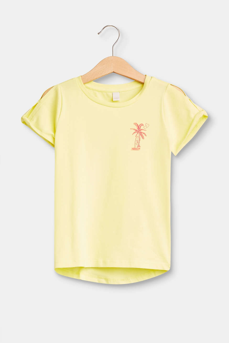 Esprit - Stretch T-shirt with a print and cut-outs