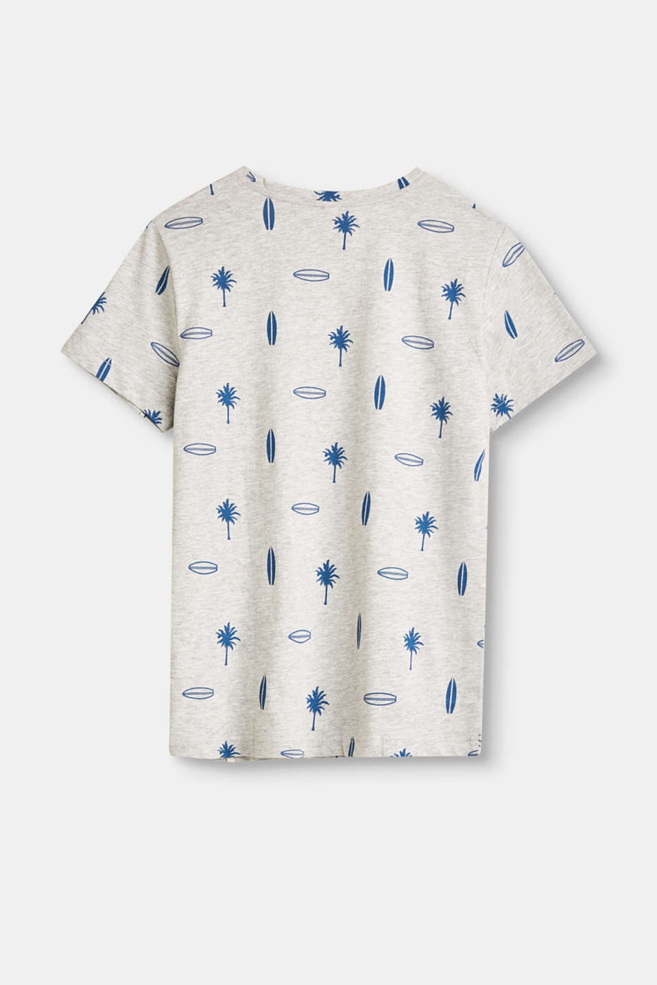 Melange T-shirt with all-over palm print