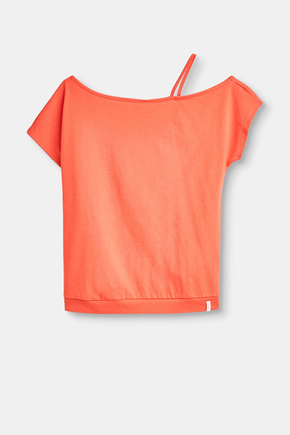 Esprit - Off-the-shoulder tee with a strap, 100% cotton