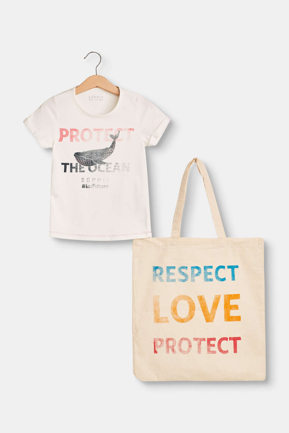 Esprit - Set: organic cotton T-shirt and bag