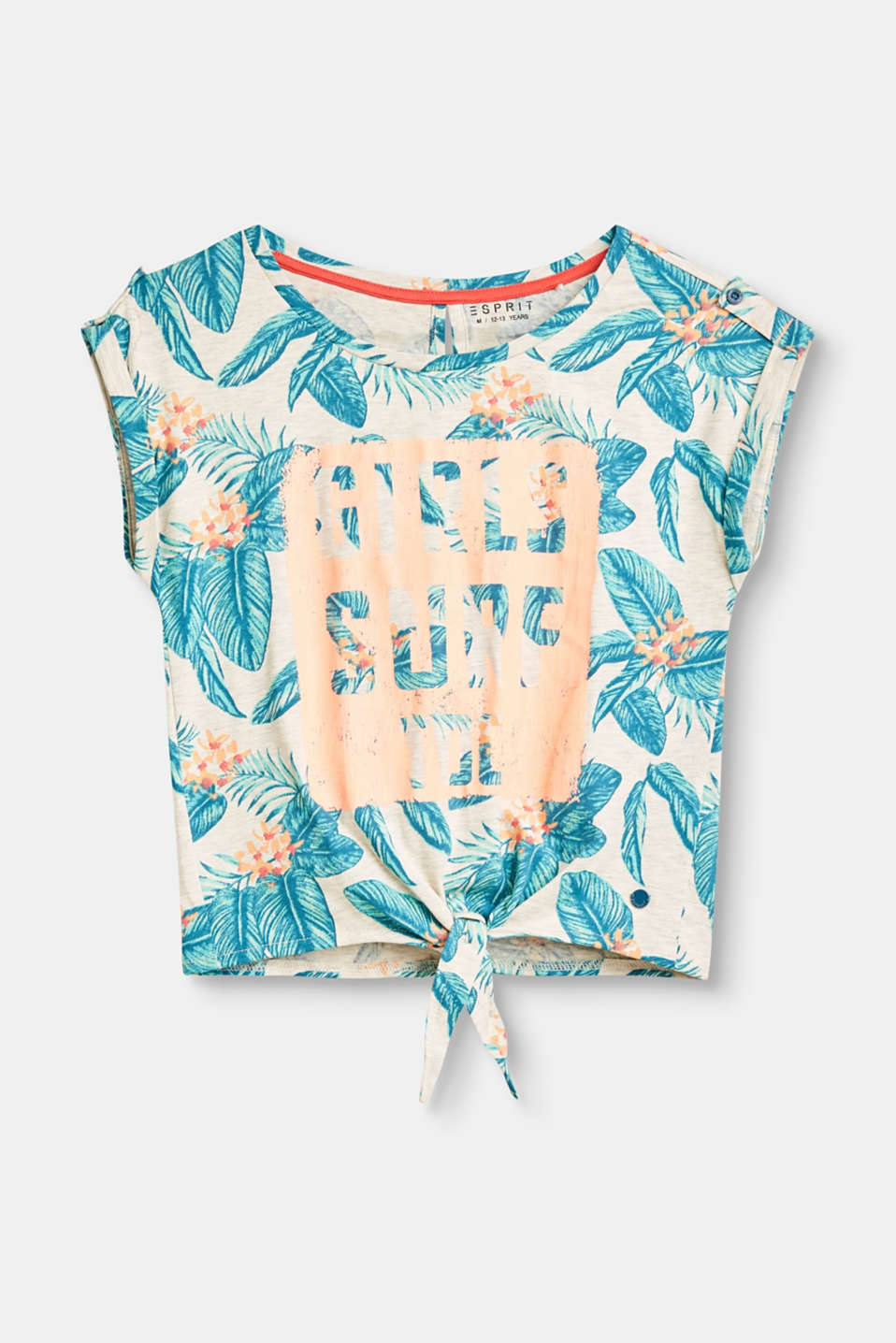 Esprit - Printed T-shirt with a knotted detail