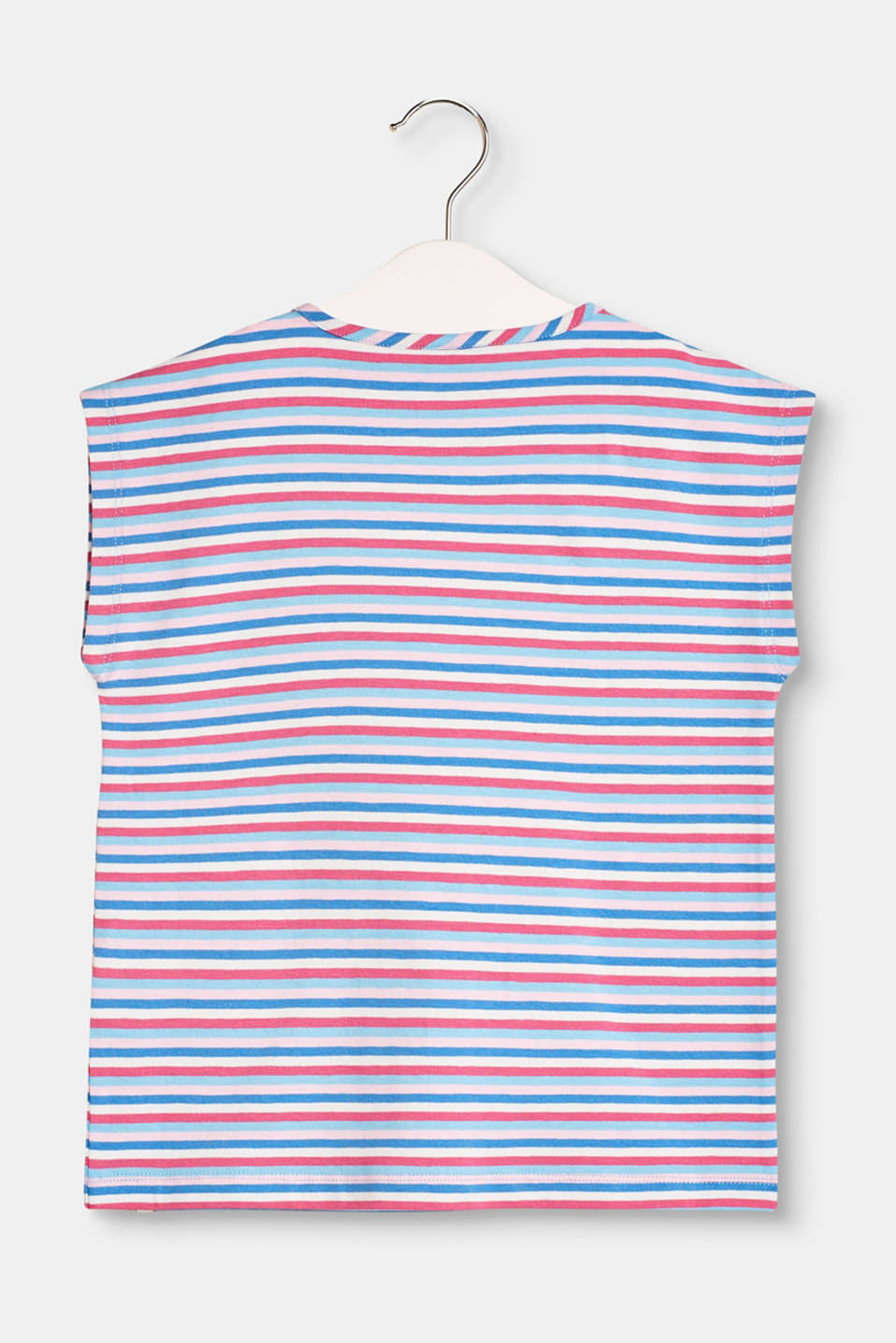 Loose, striped T-shirt made of stretch cotton