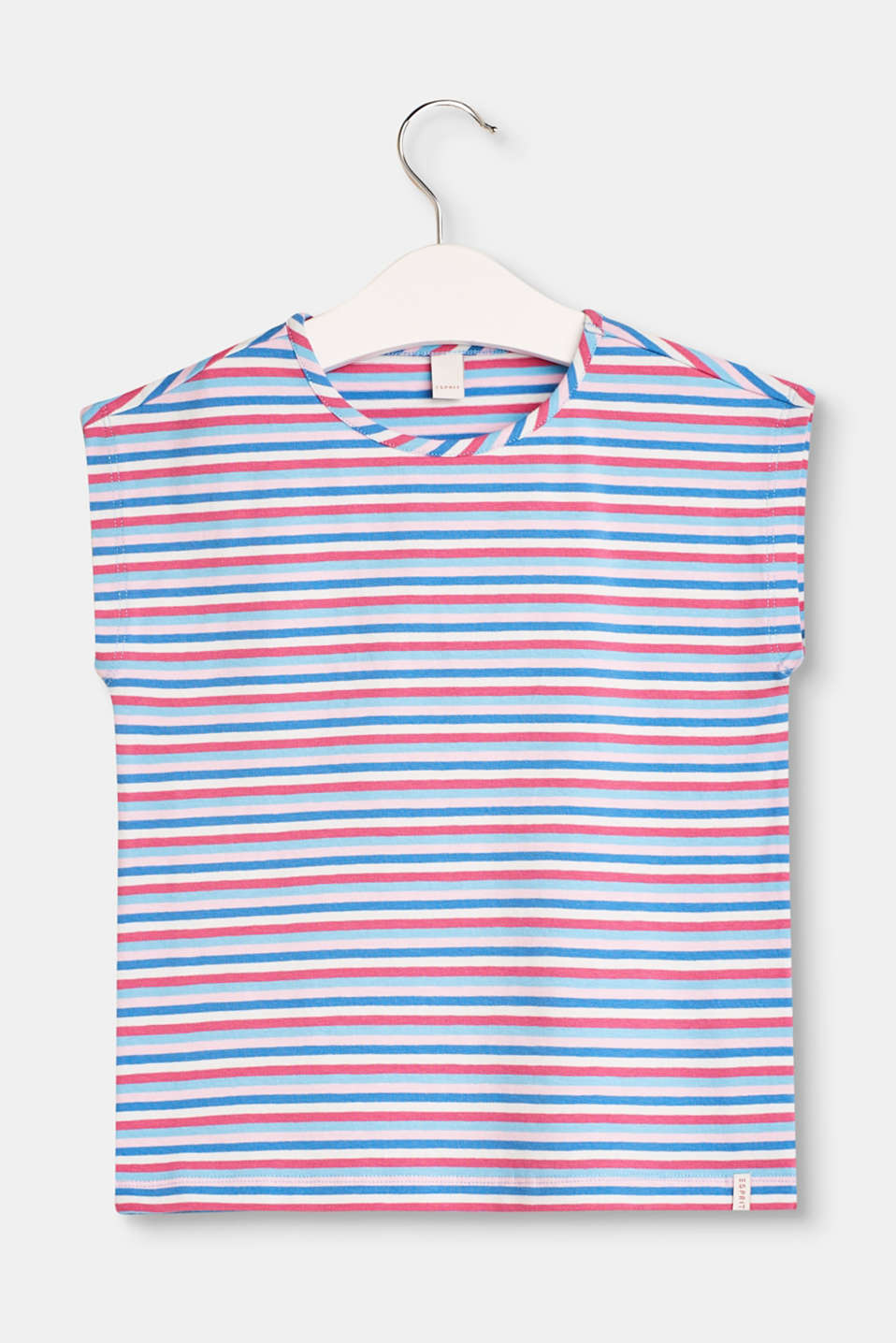 Esprit - Loose, striped T-shirt made of stretch cotton