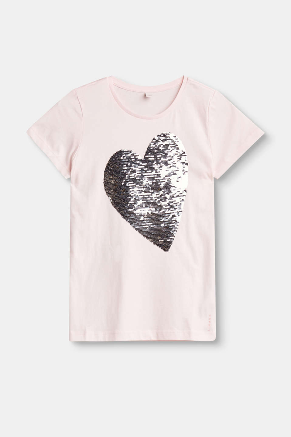 Esprit - T-shirt with a heart composed of reversible sequins