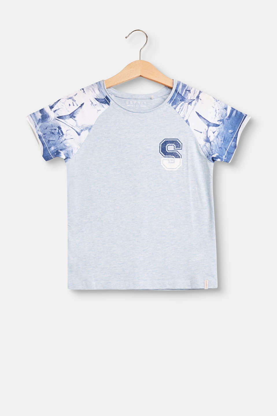 Esprit - Jersey top with a photo print, made of blended cotton