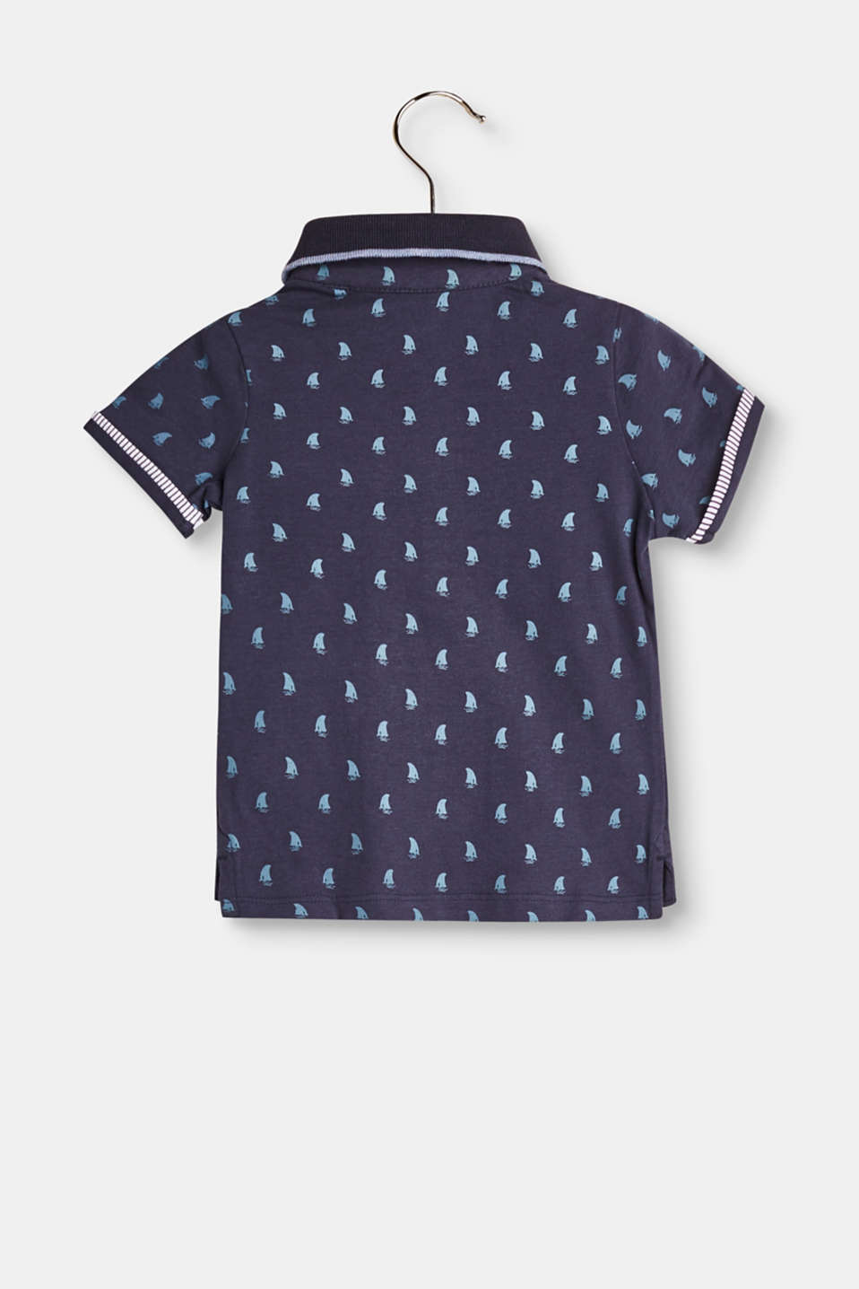 Printed jersey polo shirt, 100% cotton