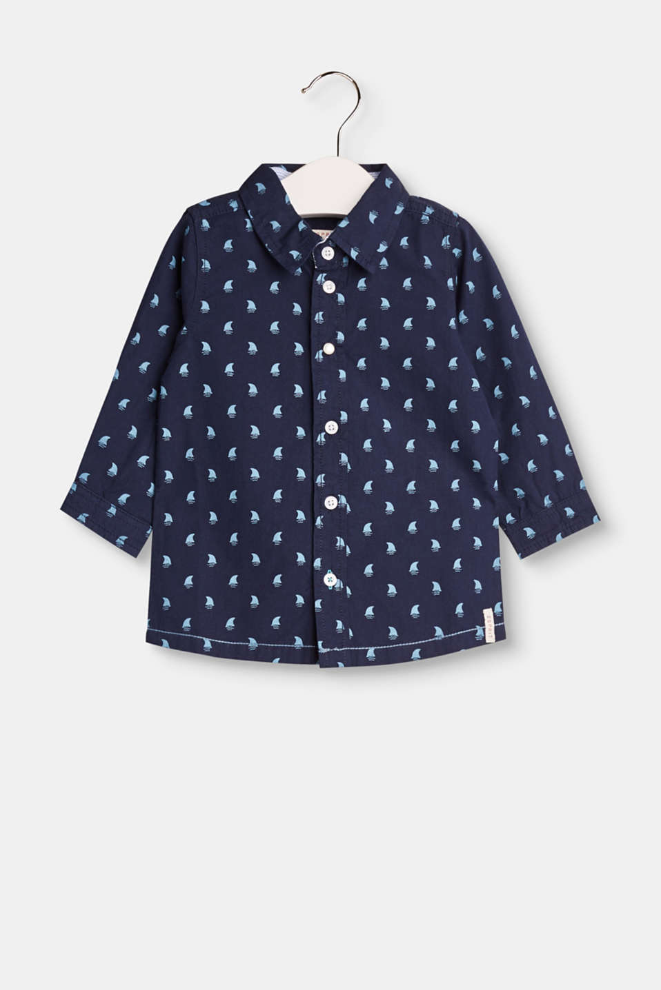 Esprit - Cotton shirt with an all-over print
