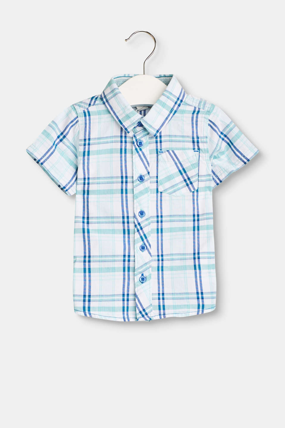 Pair with jeans or tracksuit bottoms: you will always look cool in this short sleeve check shirt in pure cotton!