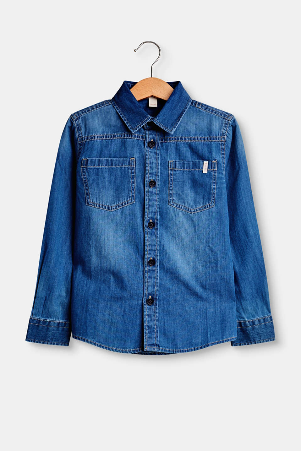 Esprit - Denim shirt in 100% cotton