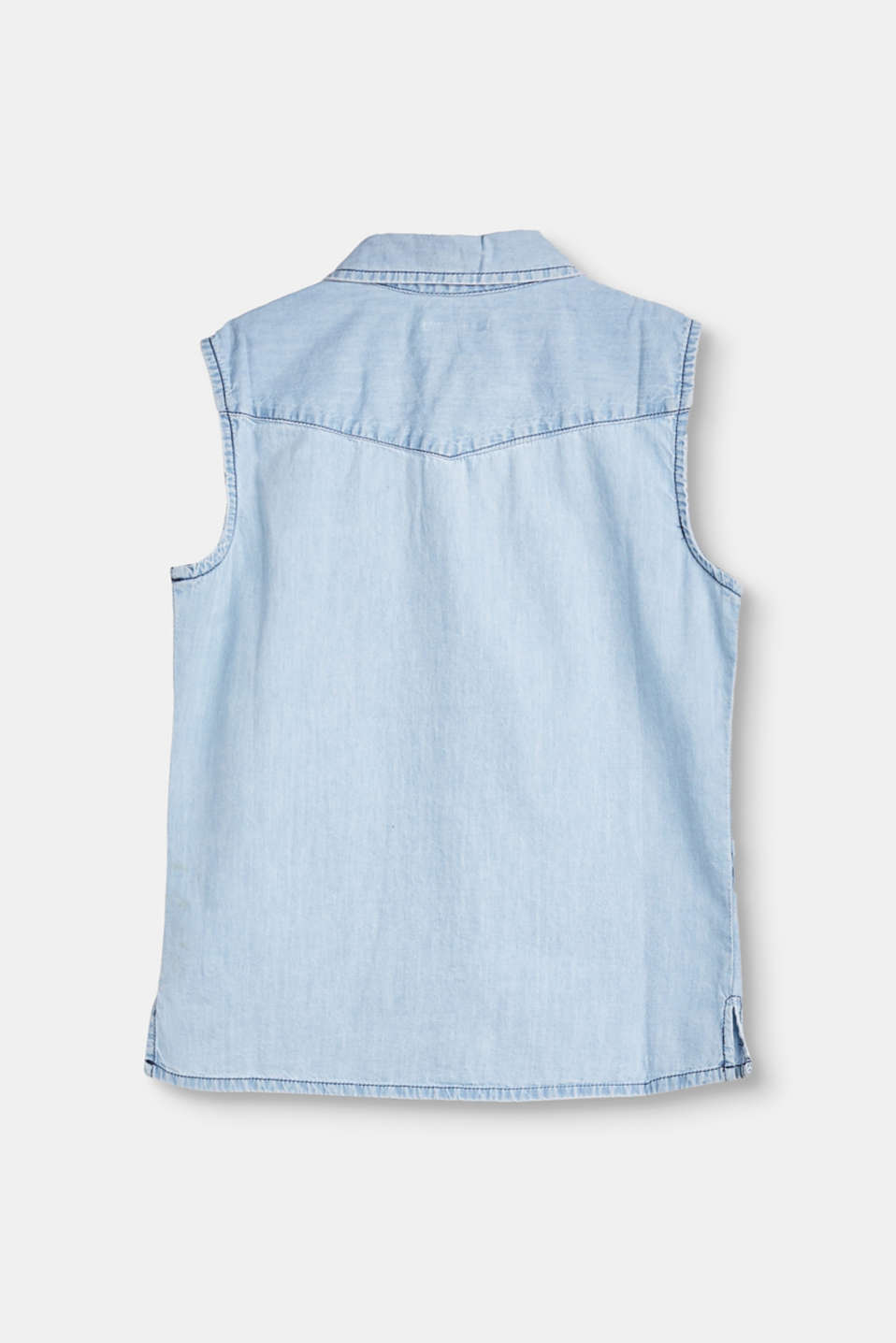 Denim blouse in 100% cotton