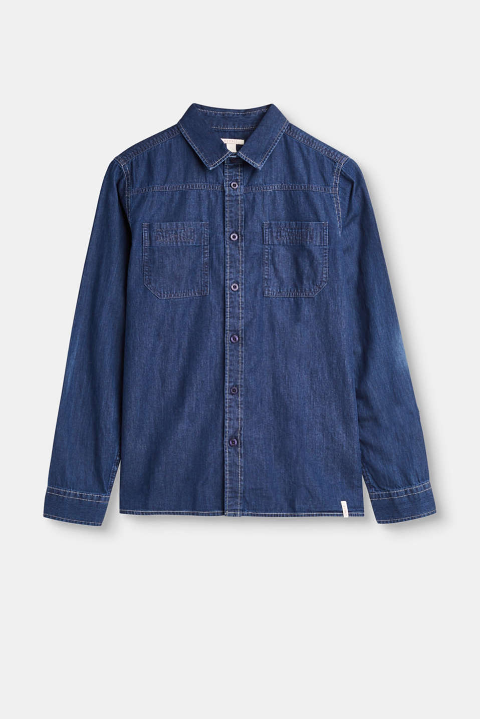 Casual classic! You are guaranteed to look cool in this dark blue denim shirt made of 100% cotton.