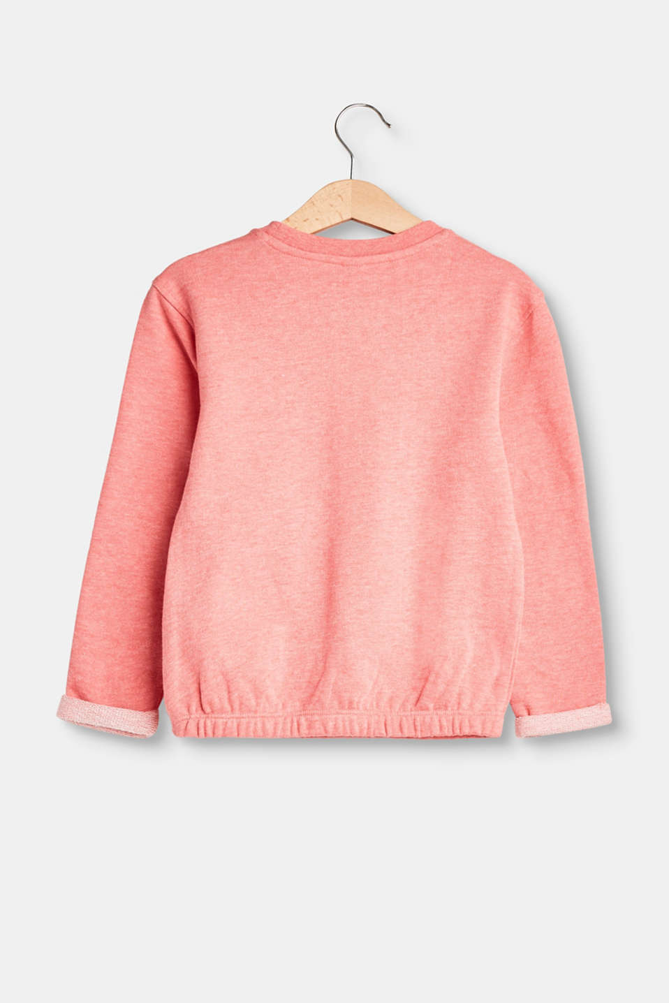 Sweatshirt with print and elasticated hems