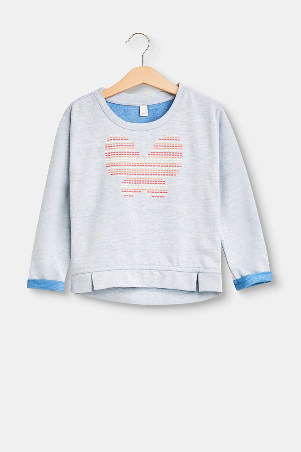 Esprit - Melange sweatshirt with a butterfly print