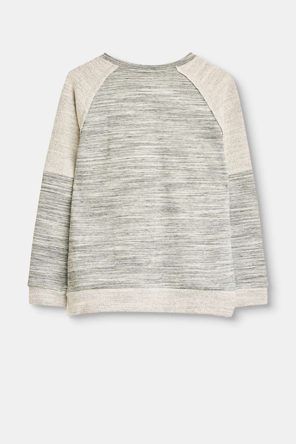 Soft sweatshirt with two types of jersey