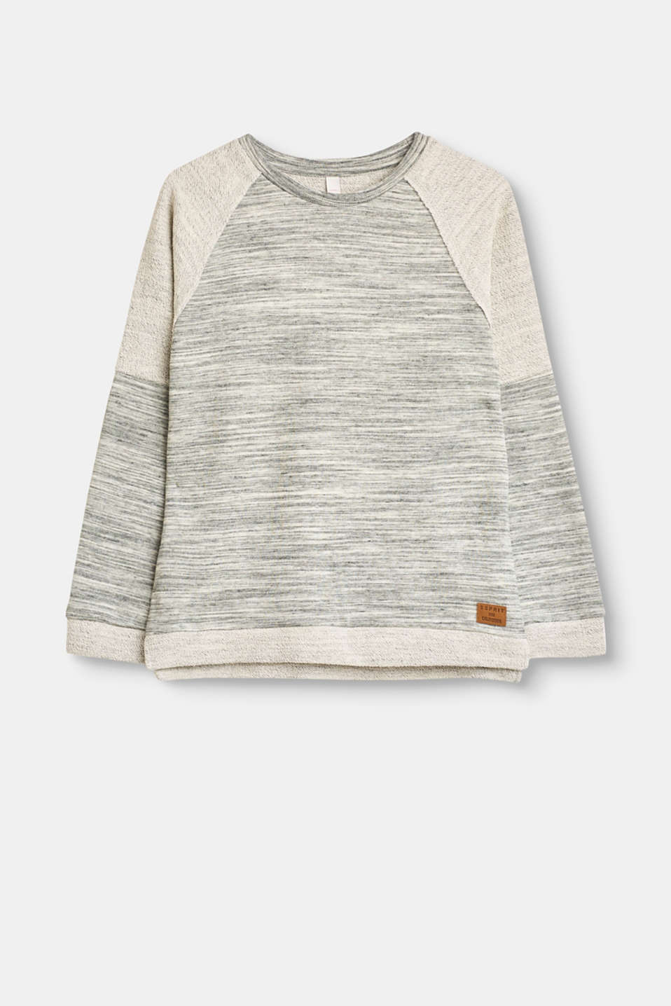 Esprit - Soft sweatshirt with two types of jersey
