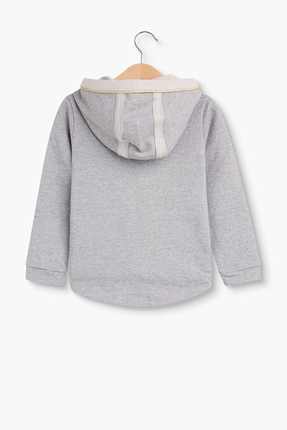Hoodie with a shimmering glitter finish