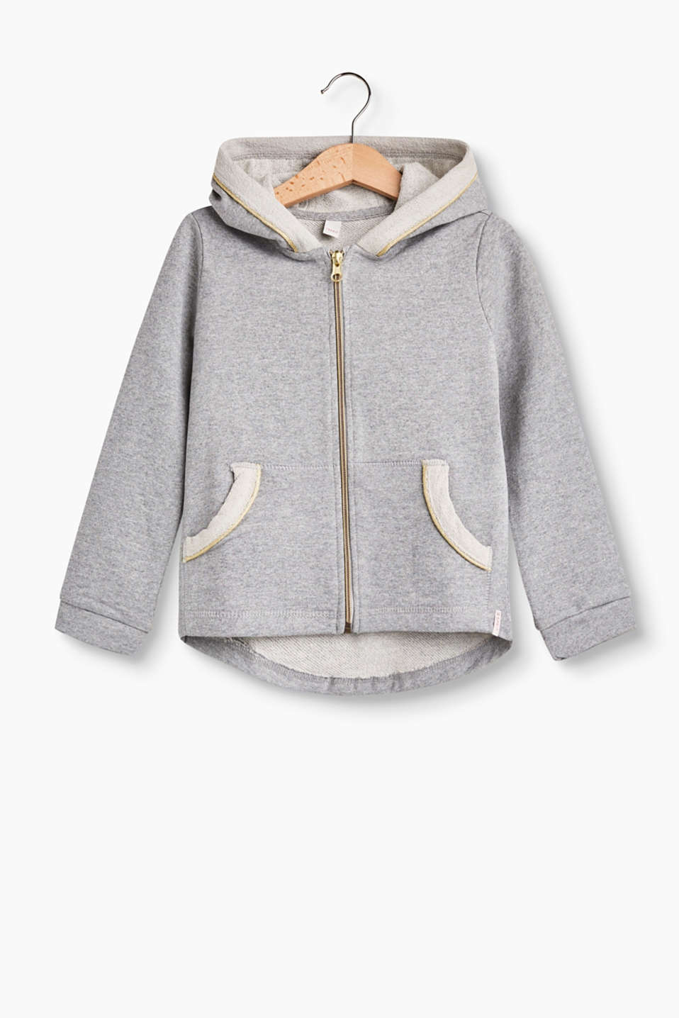 Esprit - Hoodie with a shimmering glitter finish