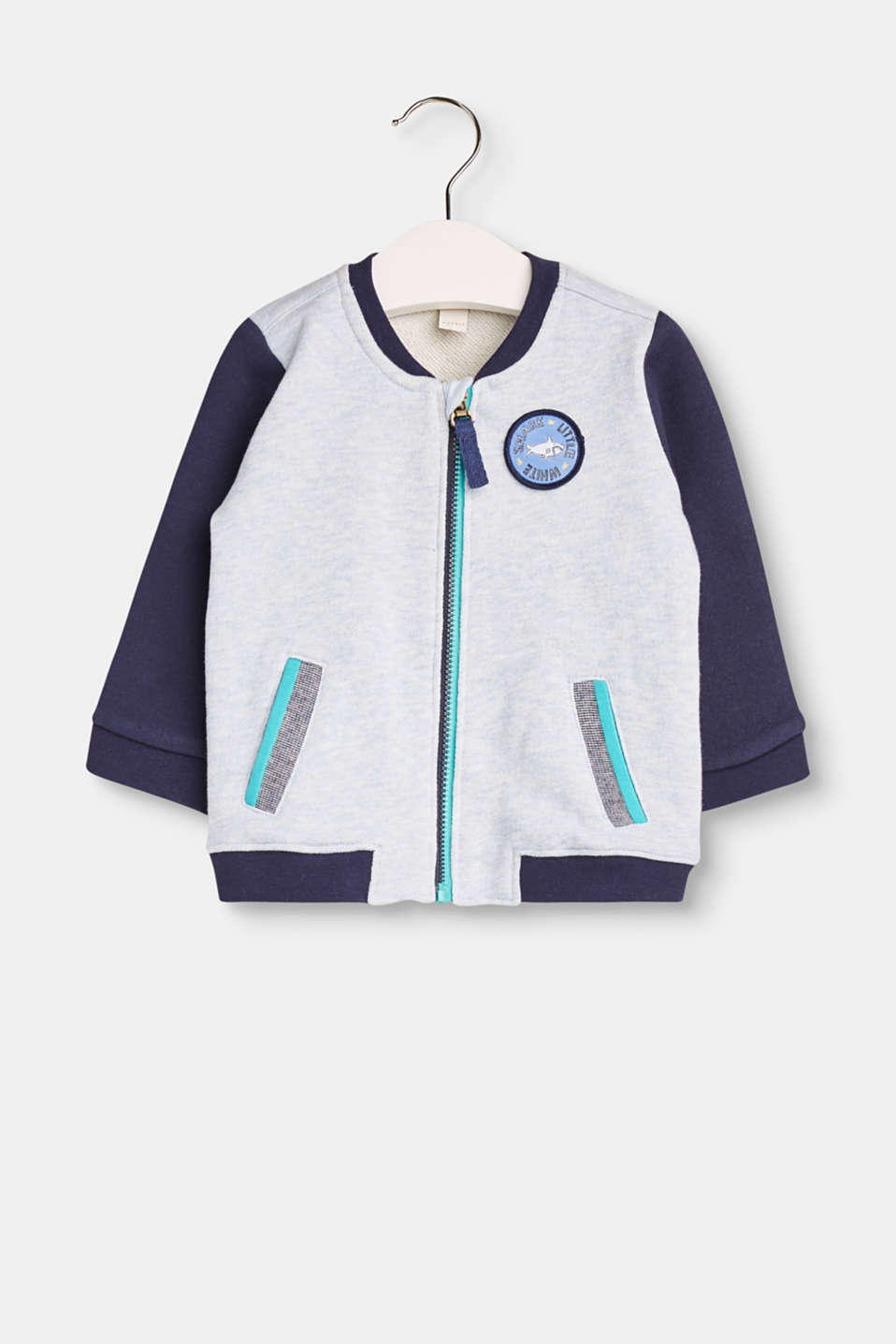 A cool college style for your little ones: This cardigan features small, fine details to create a big impact.