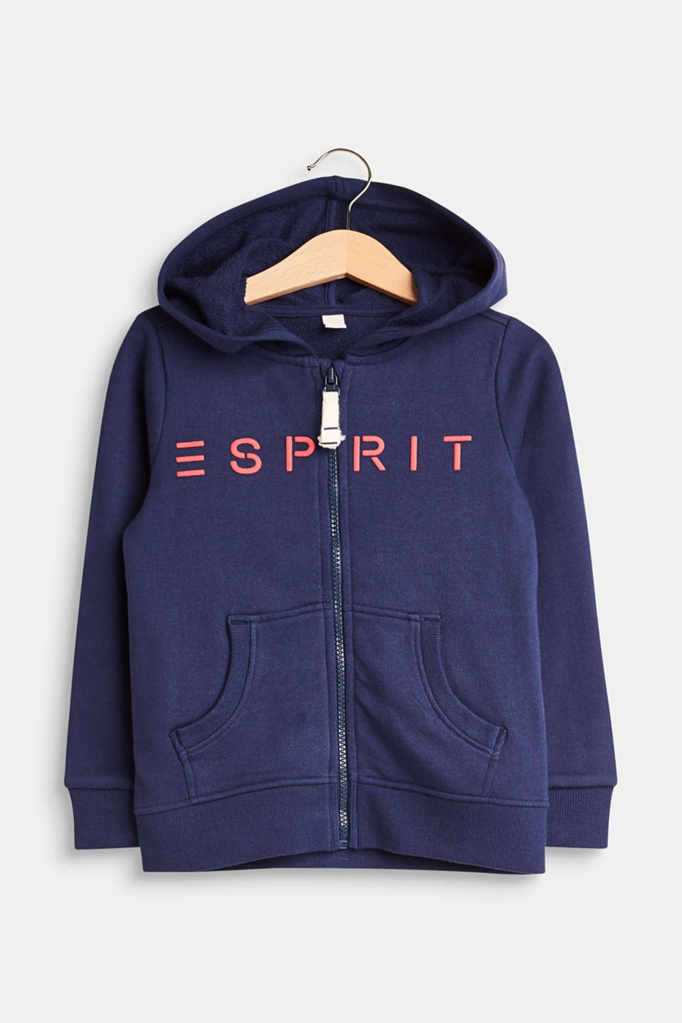 Esprit - Logo sweatshirt hoodie in a basic look