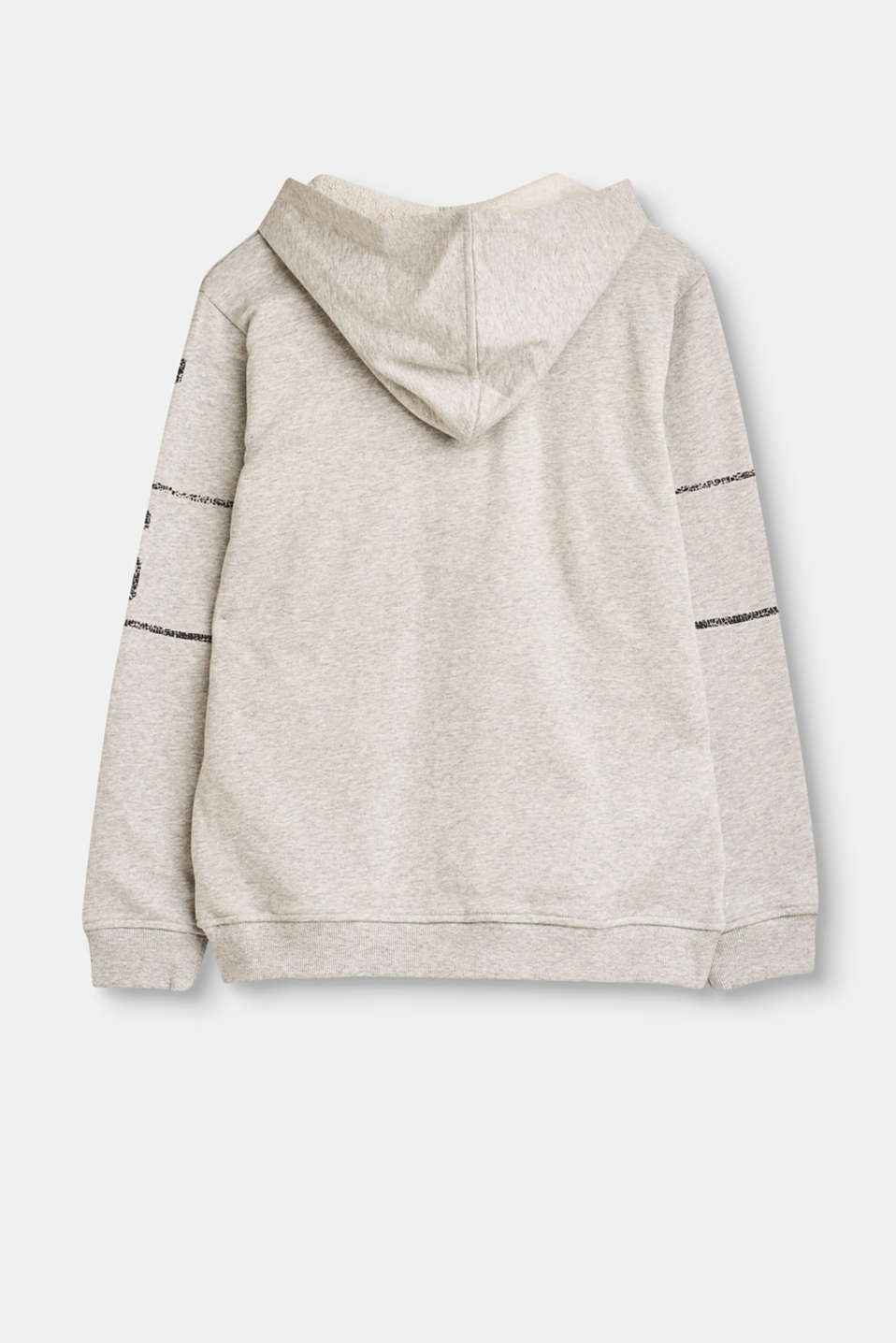 Sweatshirt cardigan in cotton
