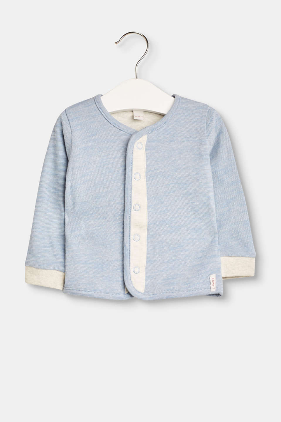 Sweet stripes for the tiny tots: This sweatshirt cardigan combines super comfort with a sweet style.