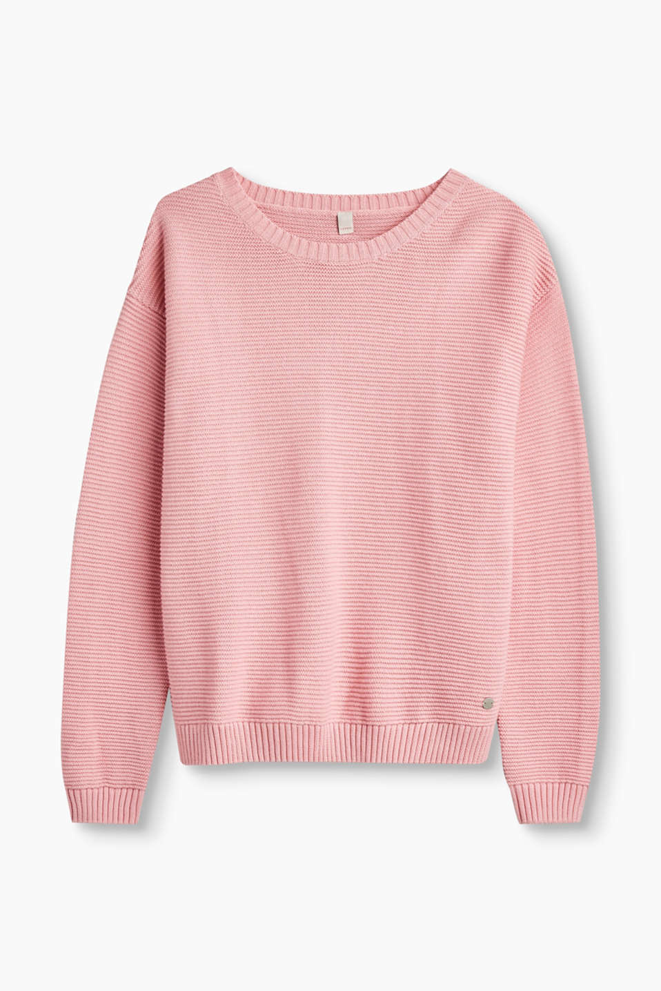 We love knitwear! This jumper impresses with its cool textured knit and pure, striking colour.