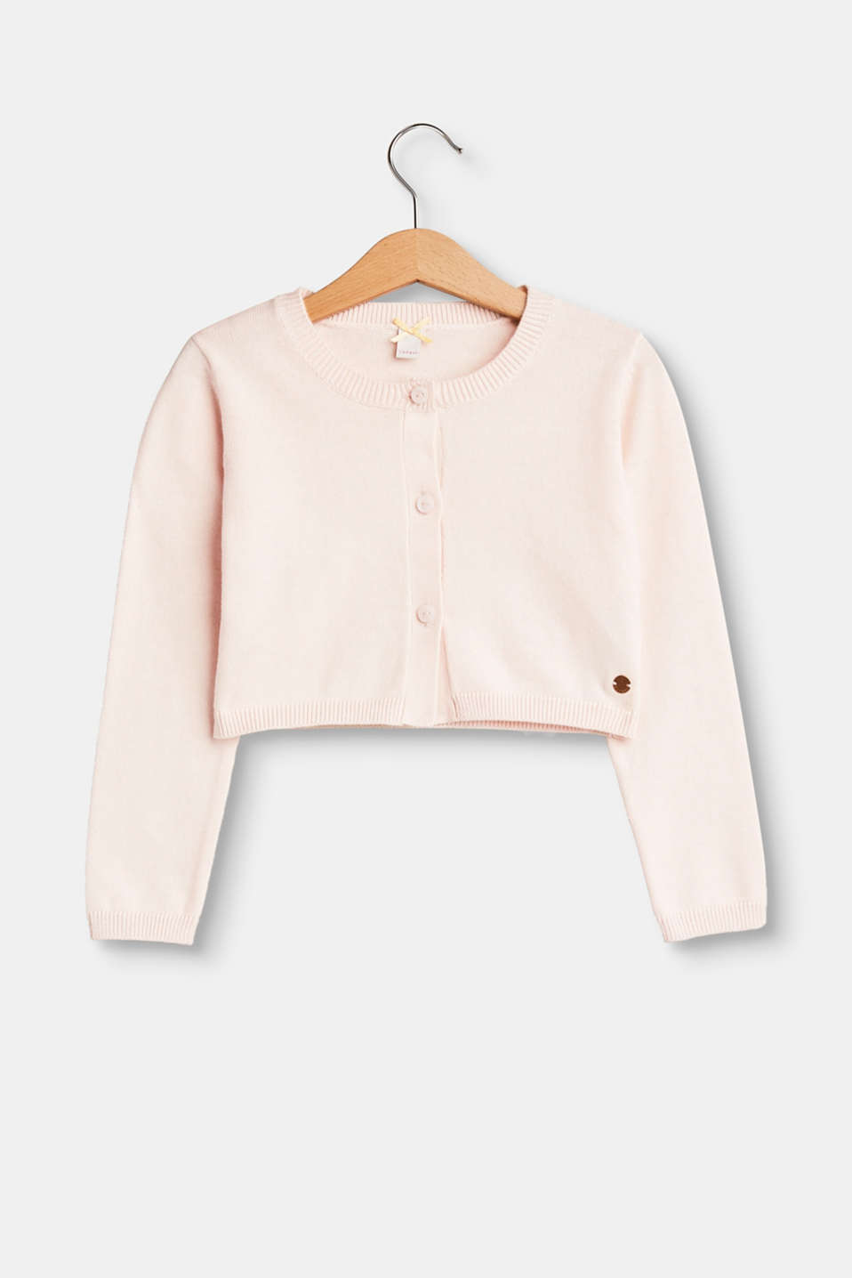 Esprit - Fine-knit bolero in 100% cotton