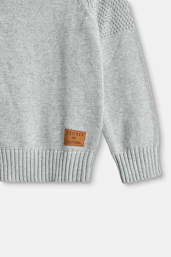 Sweaters, MID HEATHER GR, detail image number 4