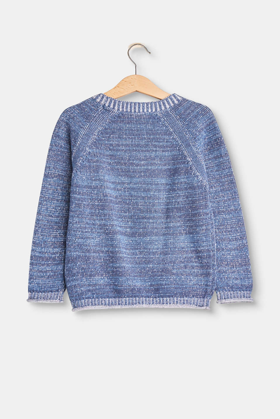 Melange jumper in 100% cotton
