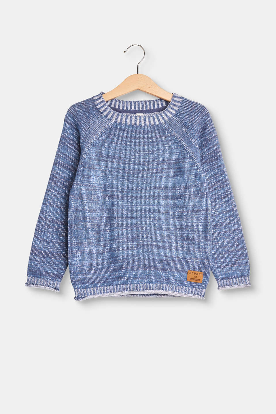 Esprit - Melange jumper in 100% cotton