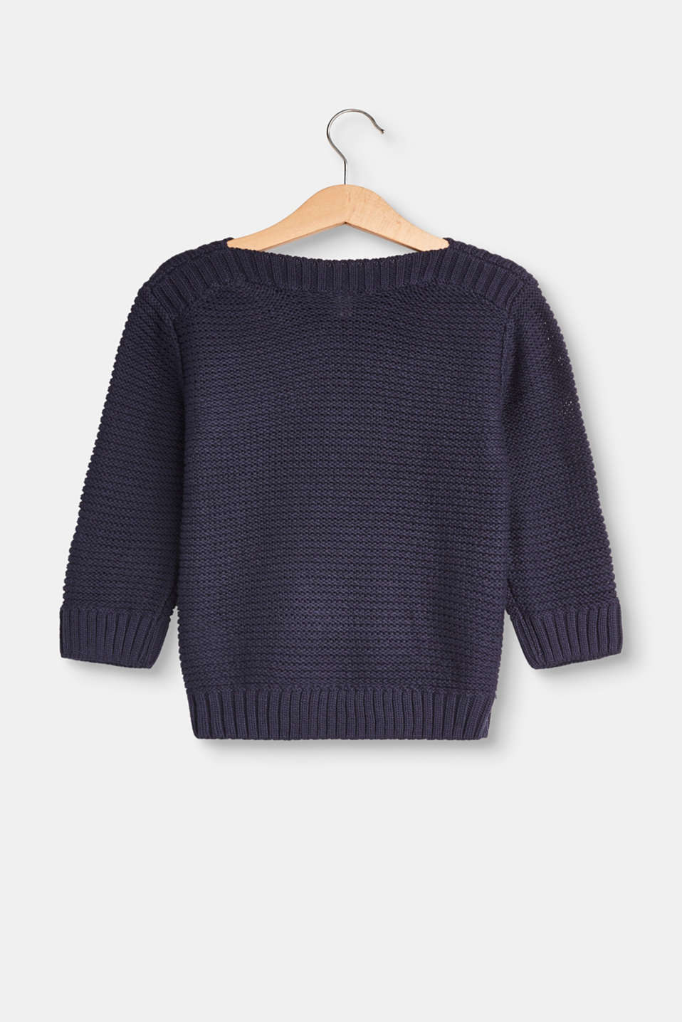 Textured jumper with a bateau-neckline
