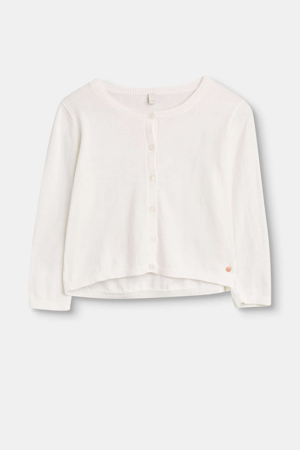 Esprit - Basic cardigan in 100% cotton