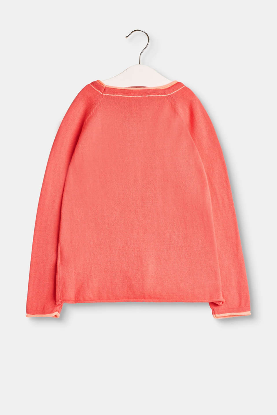 Lightweight melange jumper in 100% cotton